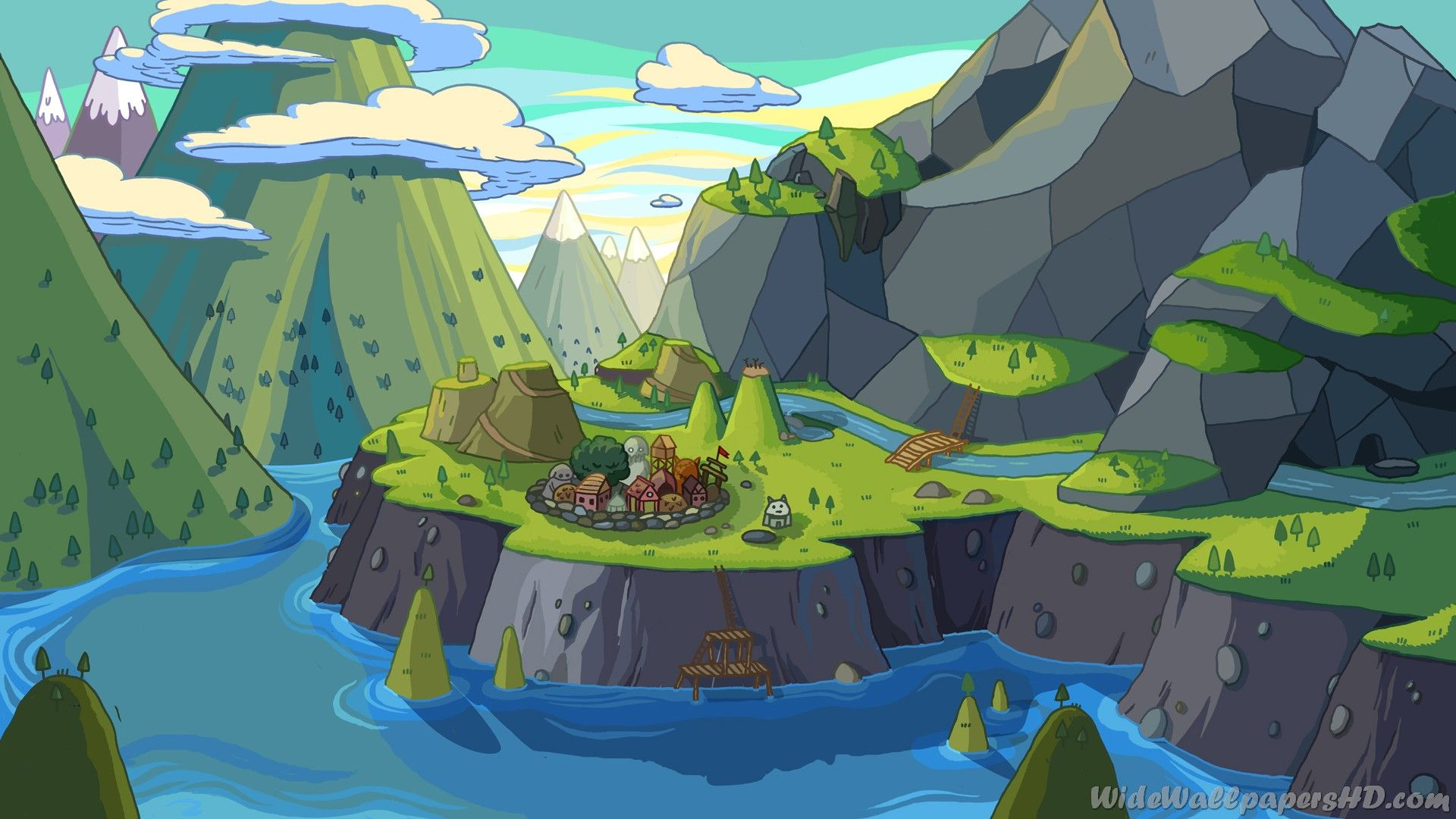 River Adventure Time 1080p Backgrounds And Wallpapers Hd Tatuaje Hora De Aventuras Ilustracion De Agua Jake De Adventure Time
