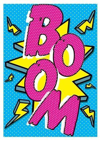 Boom Pop Art Implosion Wallpaper Background Patterns Print