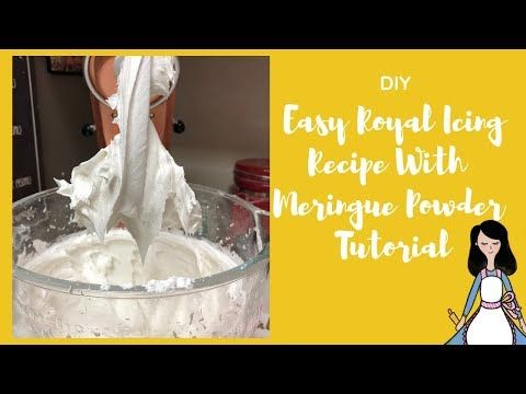 DIY Easy Royal Icing Recipe With Meringue Powder Tutorial - YouTube #easyroyalicingrecipe