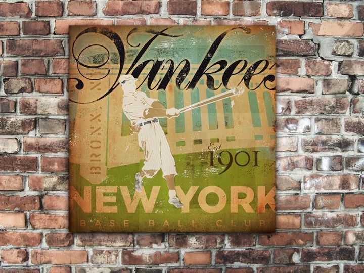 New York Yankees Baseball Club original art on canvas by stephen ...