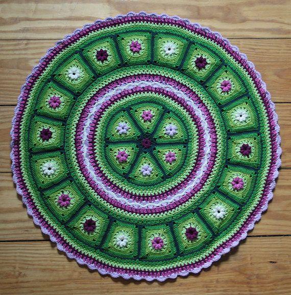 Grannies in a Round - crochet pattern, PDF in English, Deutsch ...