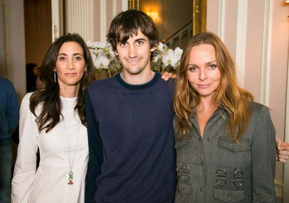 Stella McCartney At Her New Collection Preview With Fathers Wife Nancy Shevell And Son Arlen
