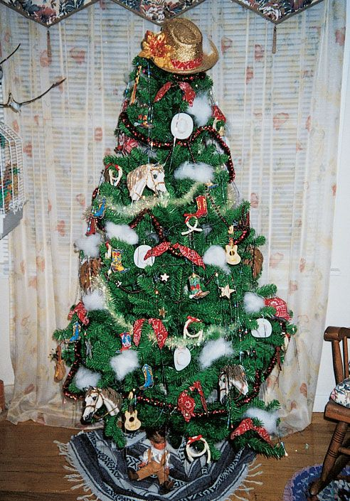 cowboy christmas decorations ideas | Cowboy Christmas is the theme for  Mavis LaPointe, out west in Hythe . - 5 Christmas Tree Decorating Ideas Jesus Is The Reason And I LOVE