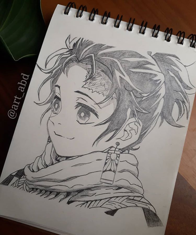 "Photo of Feature?anime art [160k+]? on Instagram: ""Tanjiro, Rate of 1-10??? ?follow me @feature_abd for more drawings around the world! . Artist : @art_abd . ⭐"