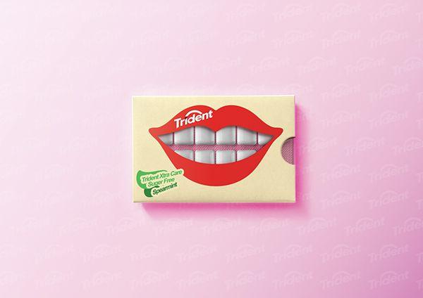 Trident Gum packaging - Student Work