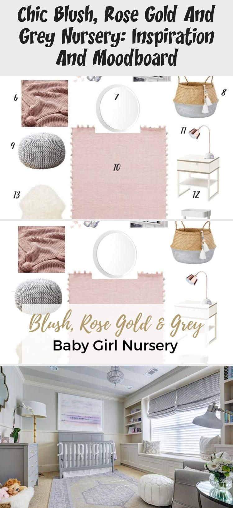 Best Chic Blush Rose Gold And Grey Nursery Inspiration And 400 x 300