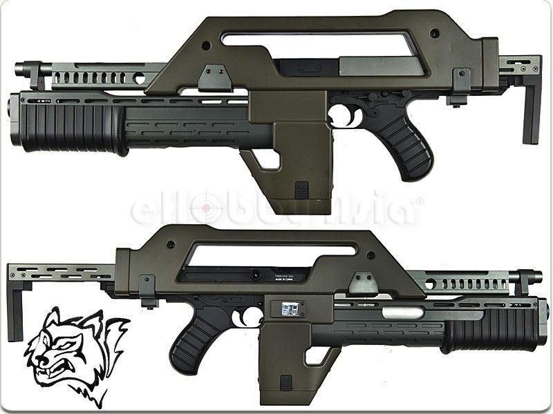 snow wolf m41a pulse rifle aeg airsoft from the alien