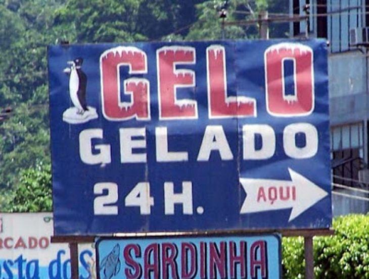 Se fosse julgar por estas placas, eu diria que a língua portuguesa está morrendo... ou pelo menos sofrendo muito!