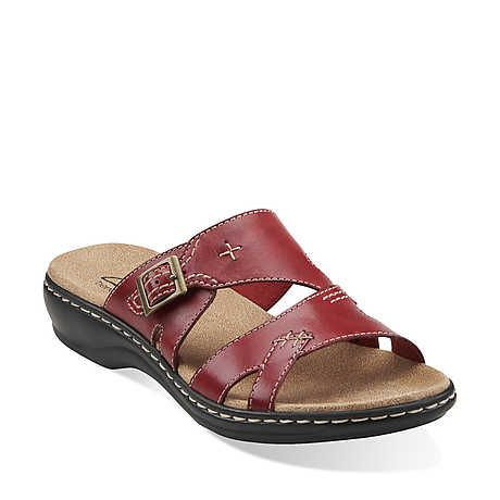 bde6fc160c0a Leisa Mallow in Red Leather - Womens Sandals from Clarks