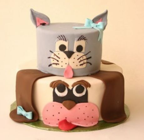 Cat and dog cake Sweet and funny Pinterest Creative cakes
