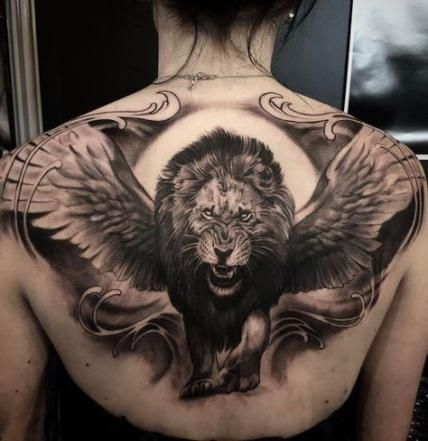 52 Trendy Ideas For Tattoo For Men On Chest Angels Tat Mens Lion Tattoo Tattoos For Guys Lion Tattoo