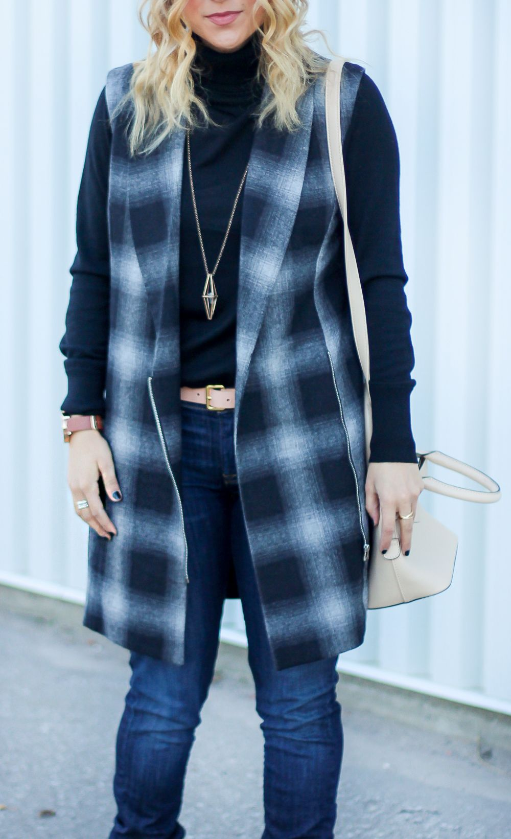 Turtleneck Sweaters Under 100 | Dark skinny jeans, Plaid vest and ...