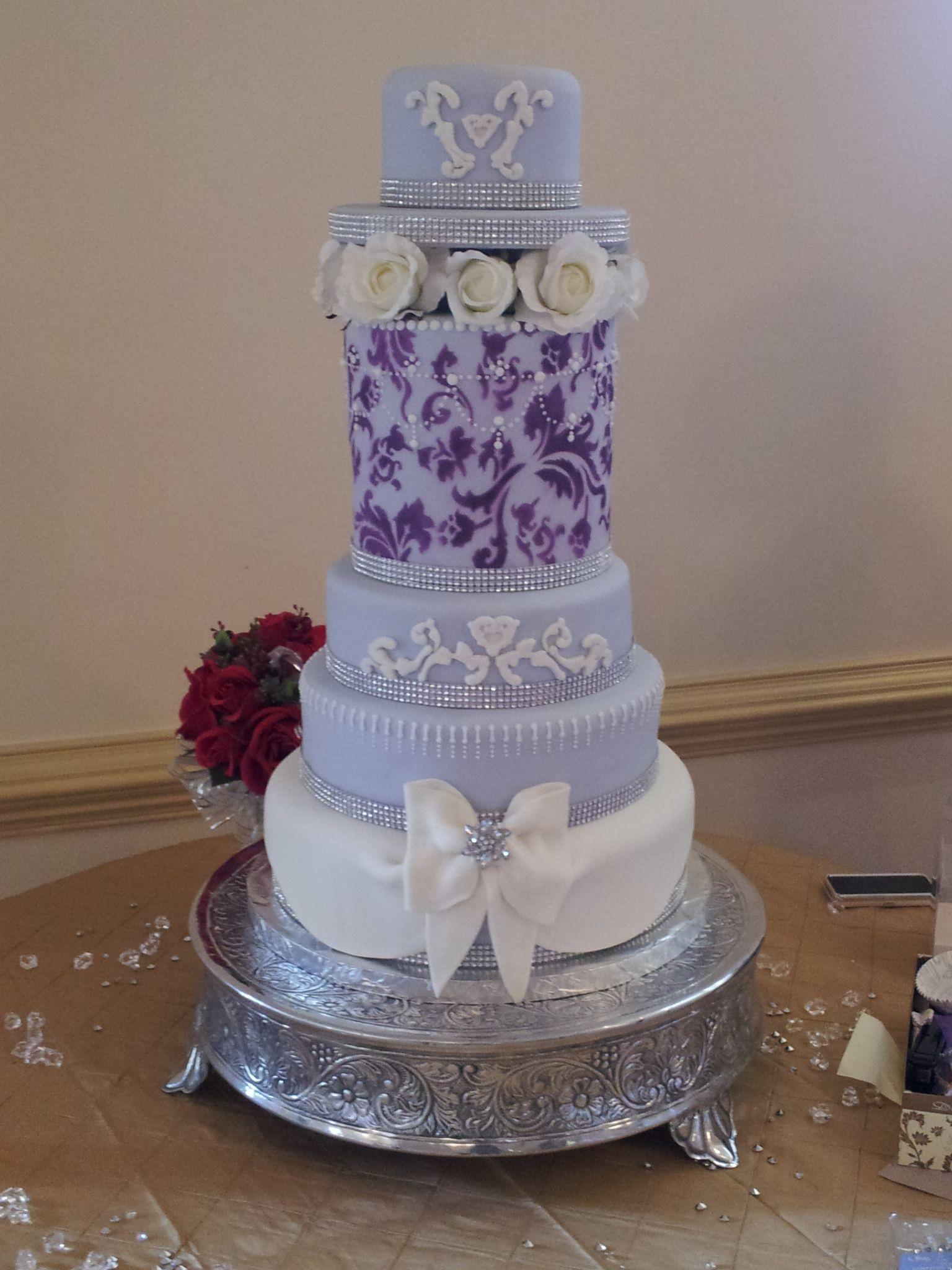 Elegant Lavender Wedding cake from Custom Party Delights. @Heather Creswell Singleton