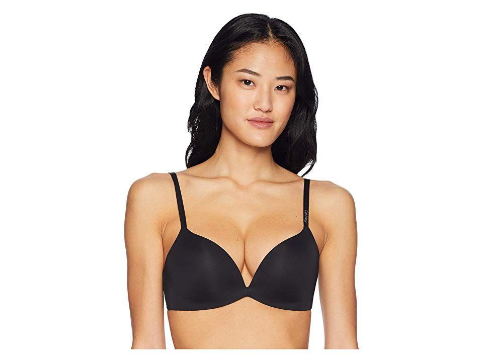3080724110 Calvin Klein Underwear Form Push-Up Plunge Bra (Black) Women s Bra. Enjoy