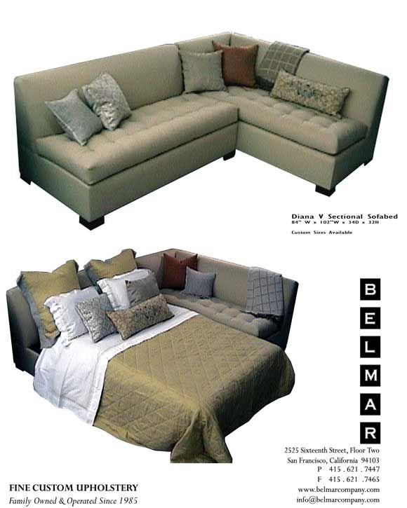104 X 84 Sectional Sleep Sofa Belmar Custom Upholstery Sectional