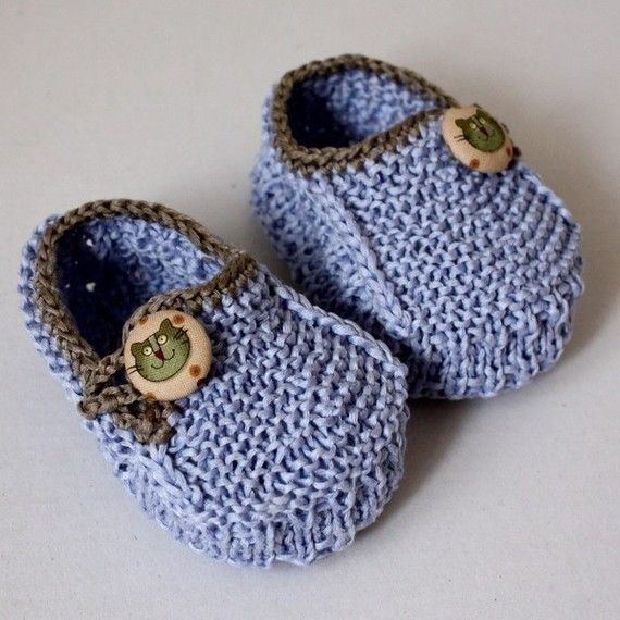 Knitting Pattern - Baby Booties Funny Cats (0-6/6-12 months ...