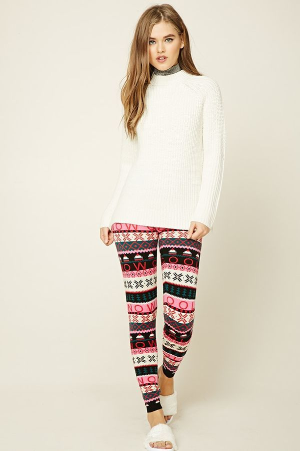 FOREVER 21 Holiday Print Sweater Leggings #ad #sweater#holidays ...