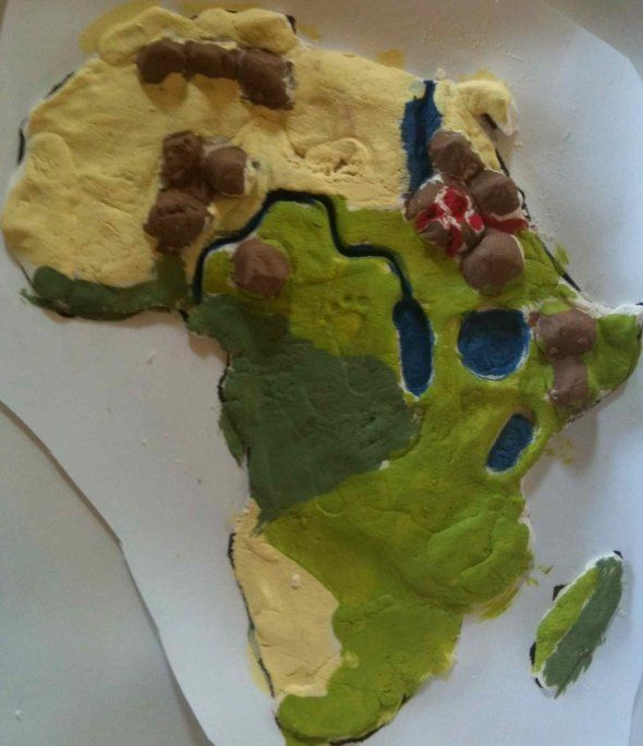 Africa salt dough map and entire africa study. | History/Geography ...