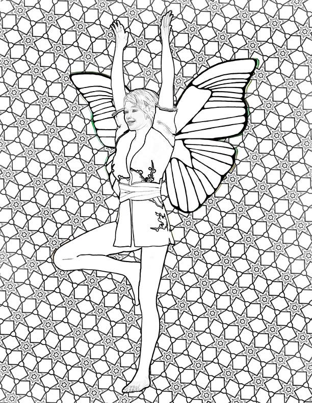Yoga Fairies Coloring Book on Amazon Coloring is a great way to ...