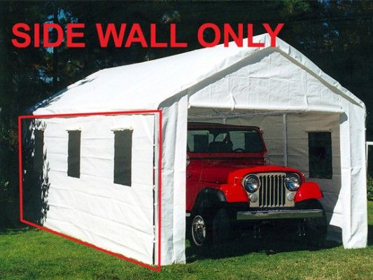 King Canopy Sidewall W 3 Windows No Flaps For 20 Model