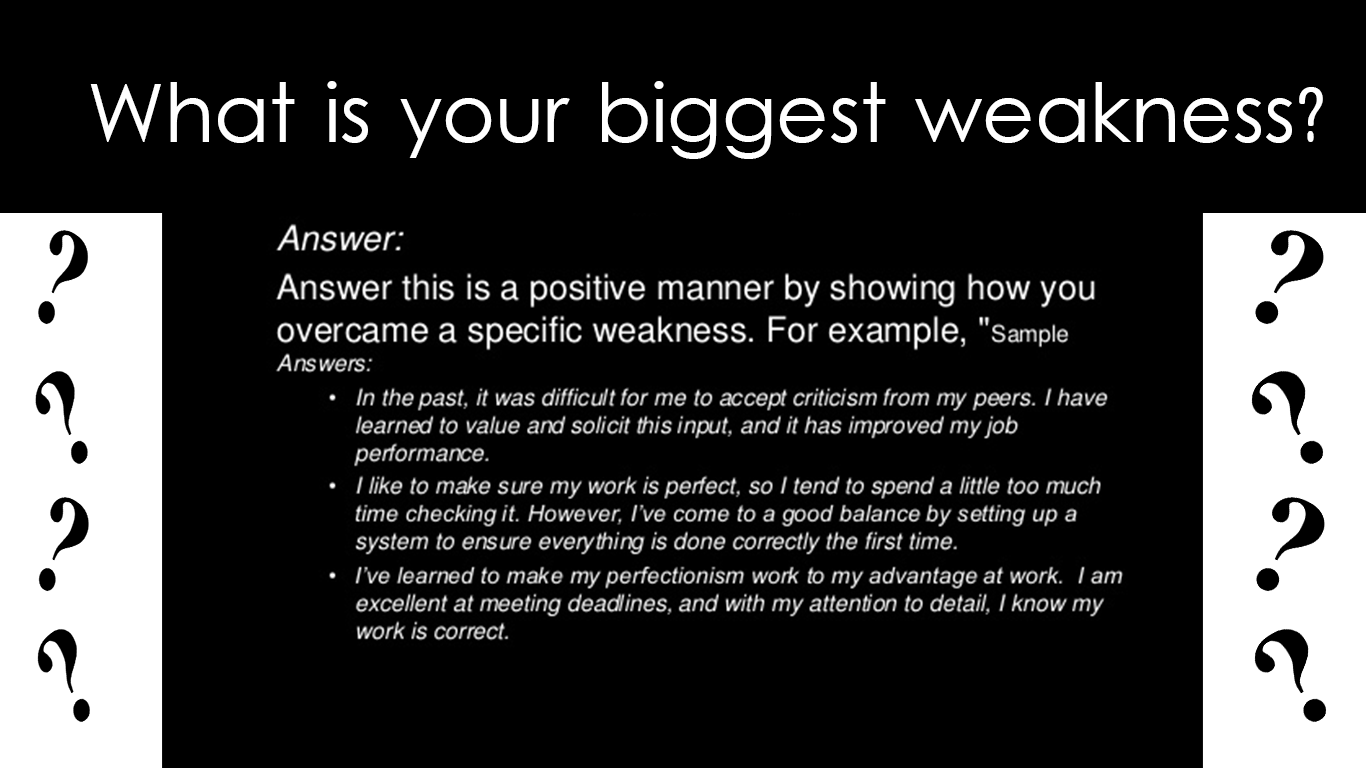 how to answer what is your biggest weakness interview how to answer what is your biggest weakness interview questions job interviews what is