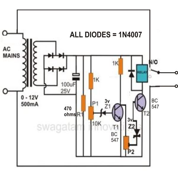 high and low voltage protector circuit  image