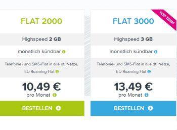 Tarifhaus: Monatlich kündbare Allnet-und SMS-Flat mit EU-Roaming für 10,49 Euro https://www.discountfan.de/artikel/tablets_und_handys/tarifhaus-monatlich-kuendbare-allnet-und-sms-flat-mit-eu-roaming-fuer-10-49-euro.php Die Handygebühren sind weiter im Sinkflug. Nun bietet Tarifhaus eine Allnet-Flat inklusive SMS-Flat und Datenflat (zwei GByte) samt EU-Roaming und Festnetznummer zum Schnäppchenpreis von 10,49 Euro an. Der Tarif ist monatlich kündbar. Tarifhaus: Monatlic