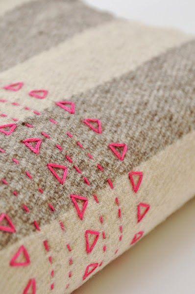 Um simples bordado pode fazer toda a diferença nos nossos trabalhos ...