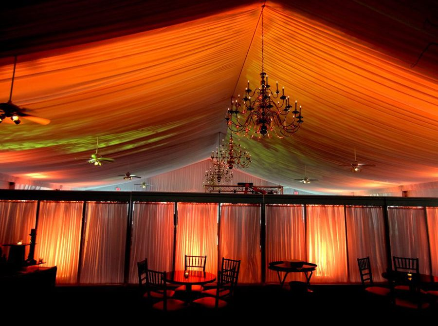 Love the up-lighting in the Tent!