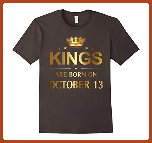 54a66b80 Mens Kings Are Born On October 13 - Birthday T-shirt 3XL Asphalt - Birthday  shirts (*Partner-Link)