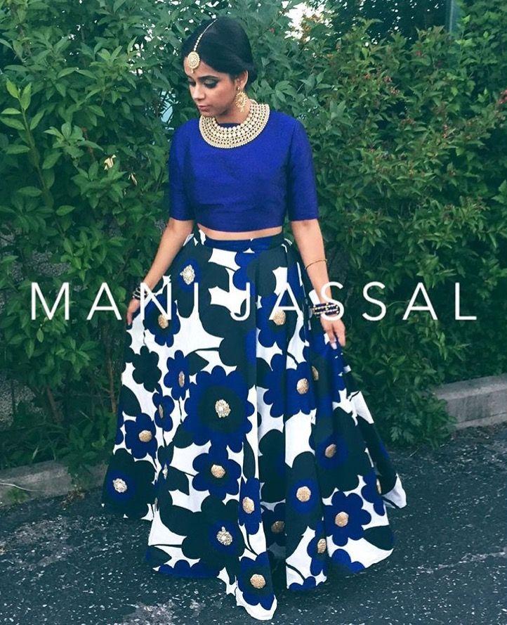 2f4f047e7e Pinterest: @pawank90 Lehenga Crop Top, Lehenga Saree, Sarees, Traditional  Skirts,