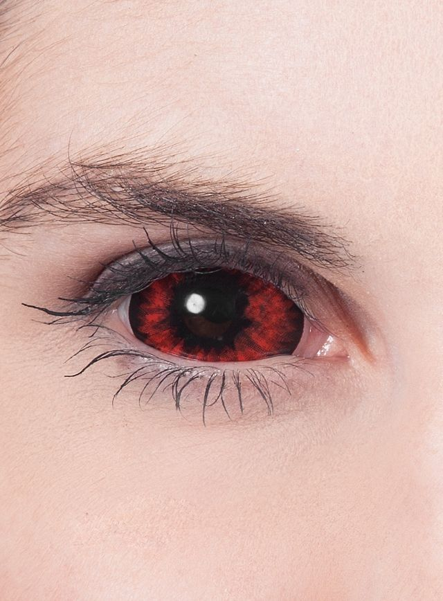 Lentilles de contact Sclera rouge   lentilles   Pinterest   Occhi b6813b11954c