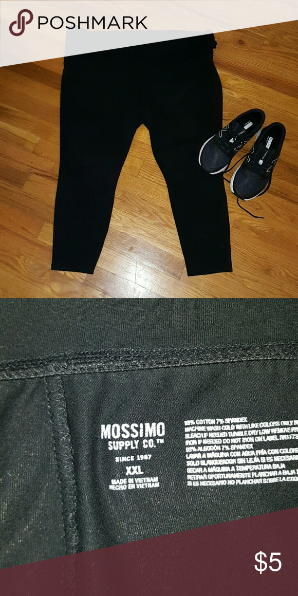 e128cfb1e581dd XXL Mossimo Supply Co. Black Cropped Yoga Pants Black, cropped yoga pants  from Mossimo Supply Co. Great condition, only worn a few times. Size XXL.