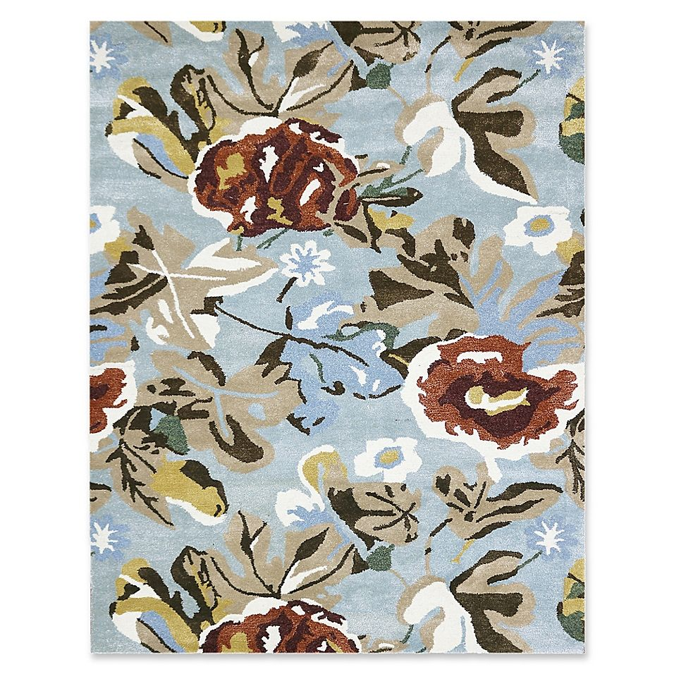 Amer Shimmer Floral 2 X 3 Accent Rug In Aqua In 2019 Rugs