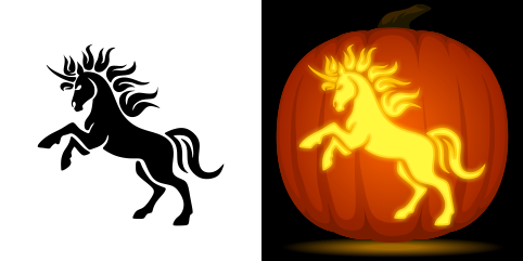 unicorn pumpkin carving stencil free pdf pattern to download and print at http - Carving Templates Halloween Pumpkin