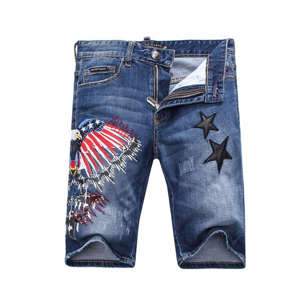 738461439f Dsquared2 SS2018 Mens Short Jeans Tiger Badge Navy Blue | Clothingtmall |  Jeans, Jean Shorts, Denim jeans