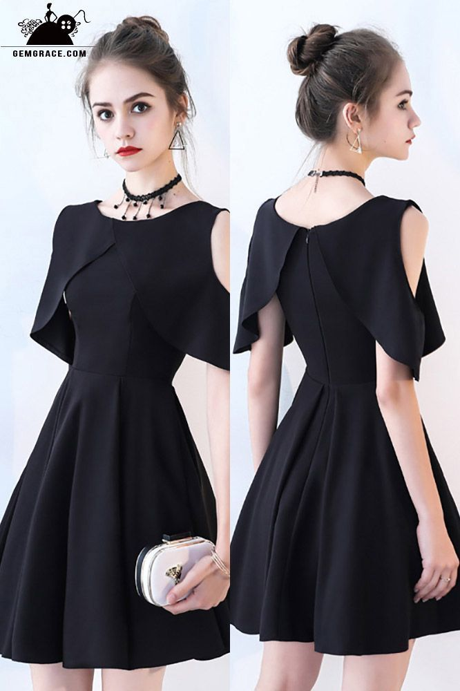 Little Black Chic - Heimkehrkleid mit kalten Schultern und Ärmeln # BLS86026 - GemGrace.com  - My girly side - #Ärmeln #Black #BLS86026 #Chic #GemGracecom #Girly #Heimkehrkleid #kalten #mit #Schultern #Side #und #homecomingdressesshort