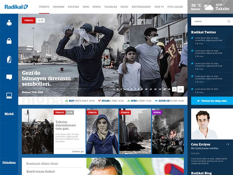 Radikal  Free Newspaper Psd Template  Desingn All In One