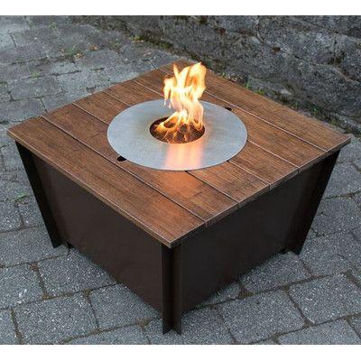 Groovebox Steel Bioethanol Fire Pit Table Color: Dark Brown