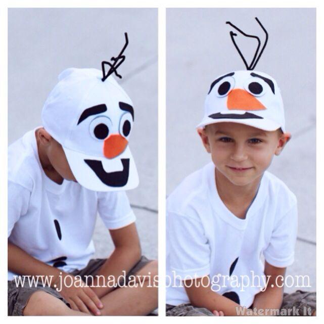 Diy Olaf Costume For My Boys Hat Felt And Hot Glue Olaf