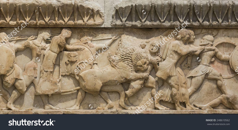 Ancient greek temple frieze detail delhpi greece stock photo ancient greek temple frieze detail delhpi greece stock photo 248610562 shutterstock m4hsunfo