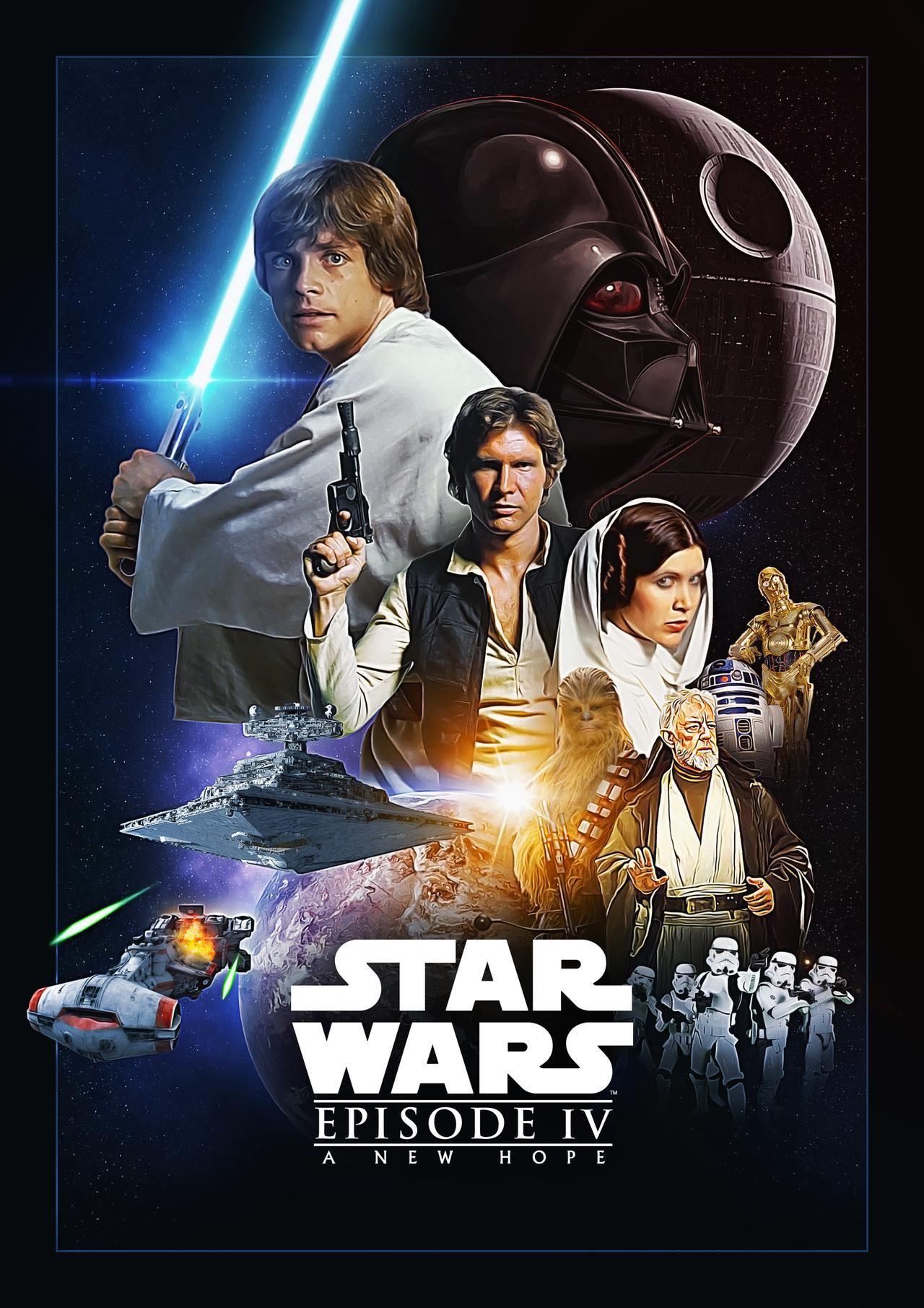 Star Wars: Episode 4 Fanart Poster by Uebelator on DeviantArt