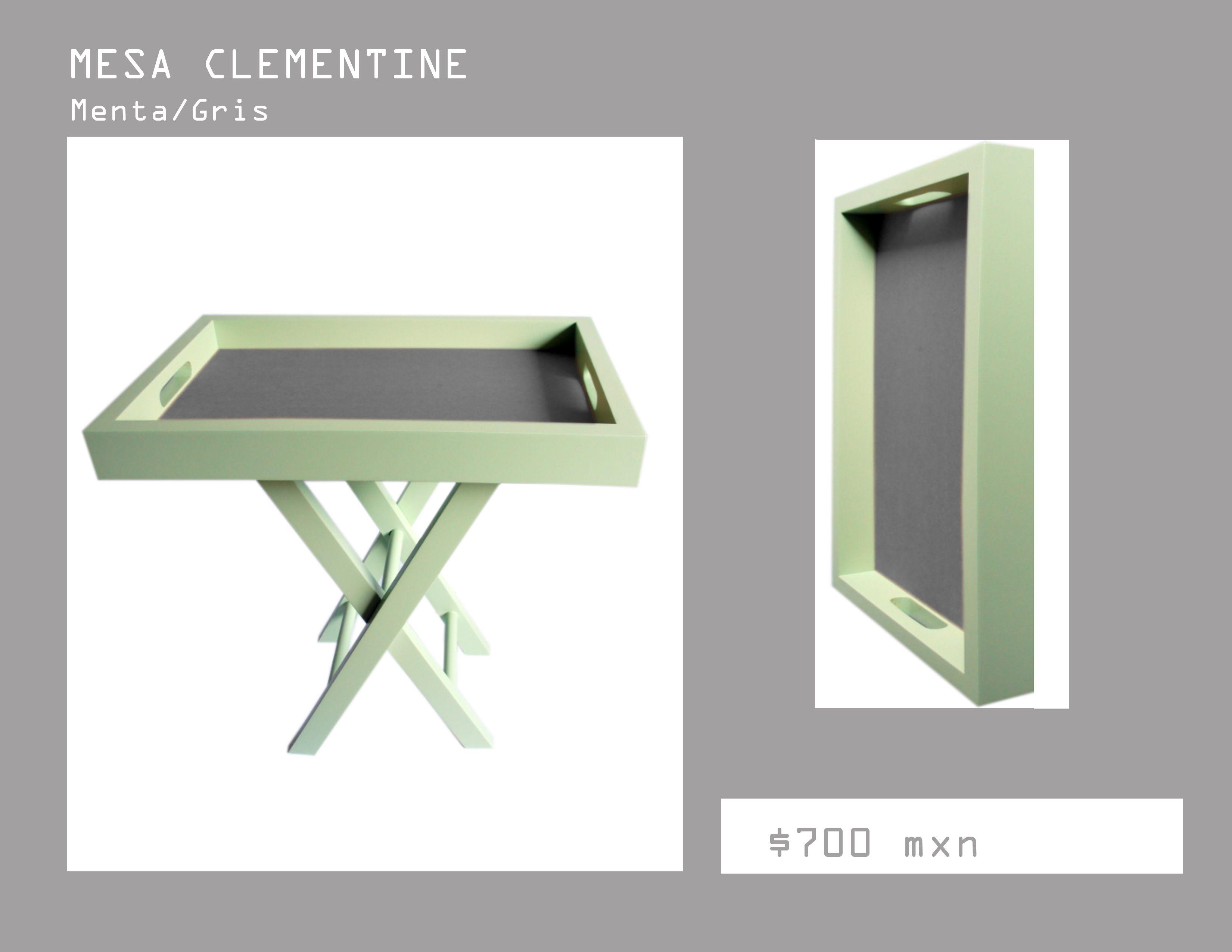 Mesita de servicio color menta mesa lateral mesa de for Mesa centro plegable