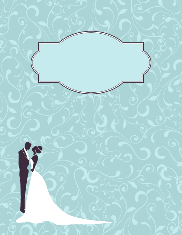 Free printable wedding binder cover template. Download the