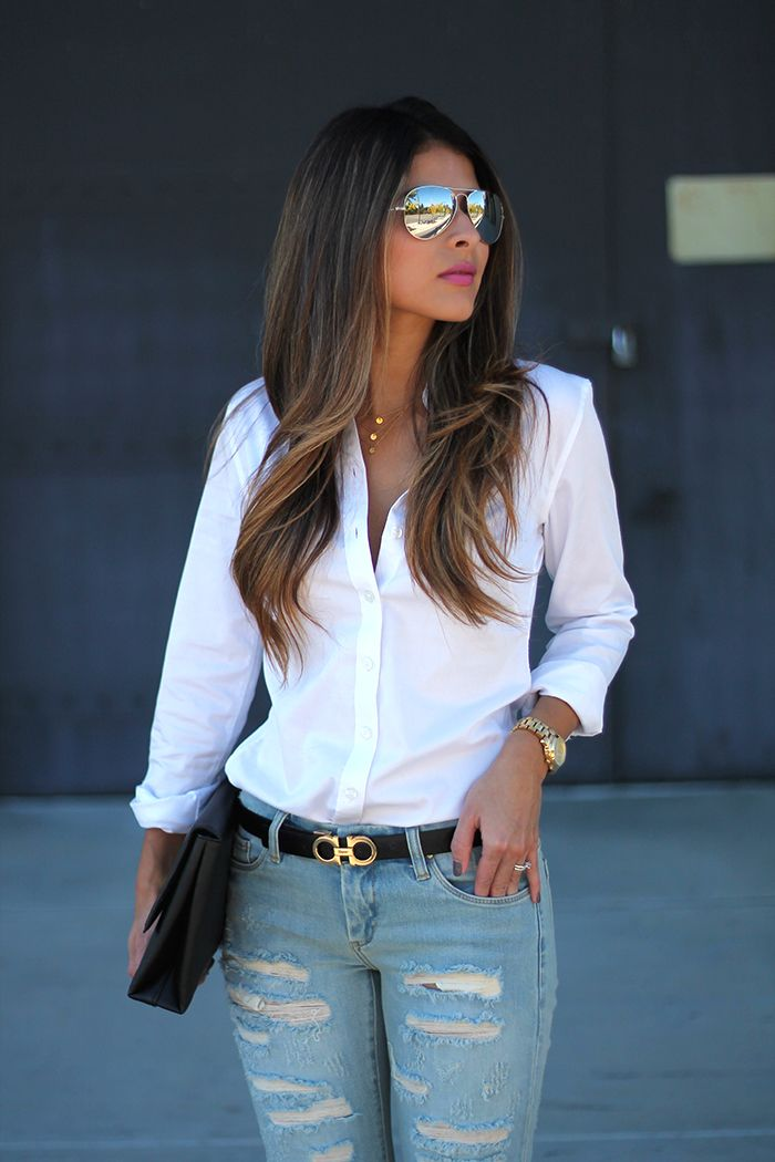 Chelsea becker banana republic white shirts and skinny for Skinny jeans with shirt