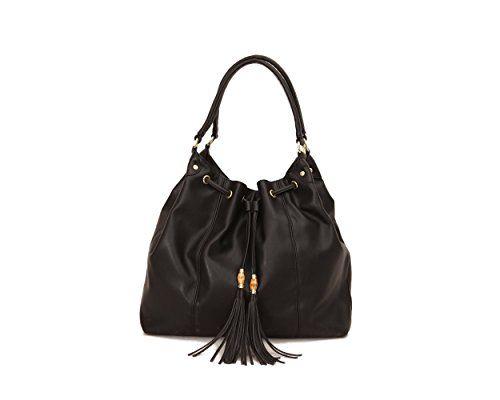 c74eeb96fb00 Women s Shoulder Bags - Olivia Joy Womens Designer Handbags Autumn Faux  Leather Drawstring Tote Shoulder Bag