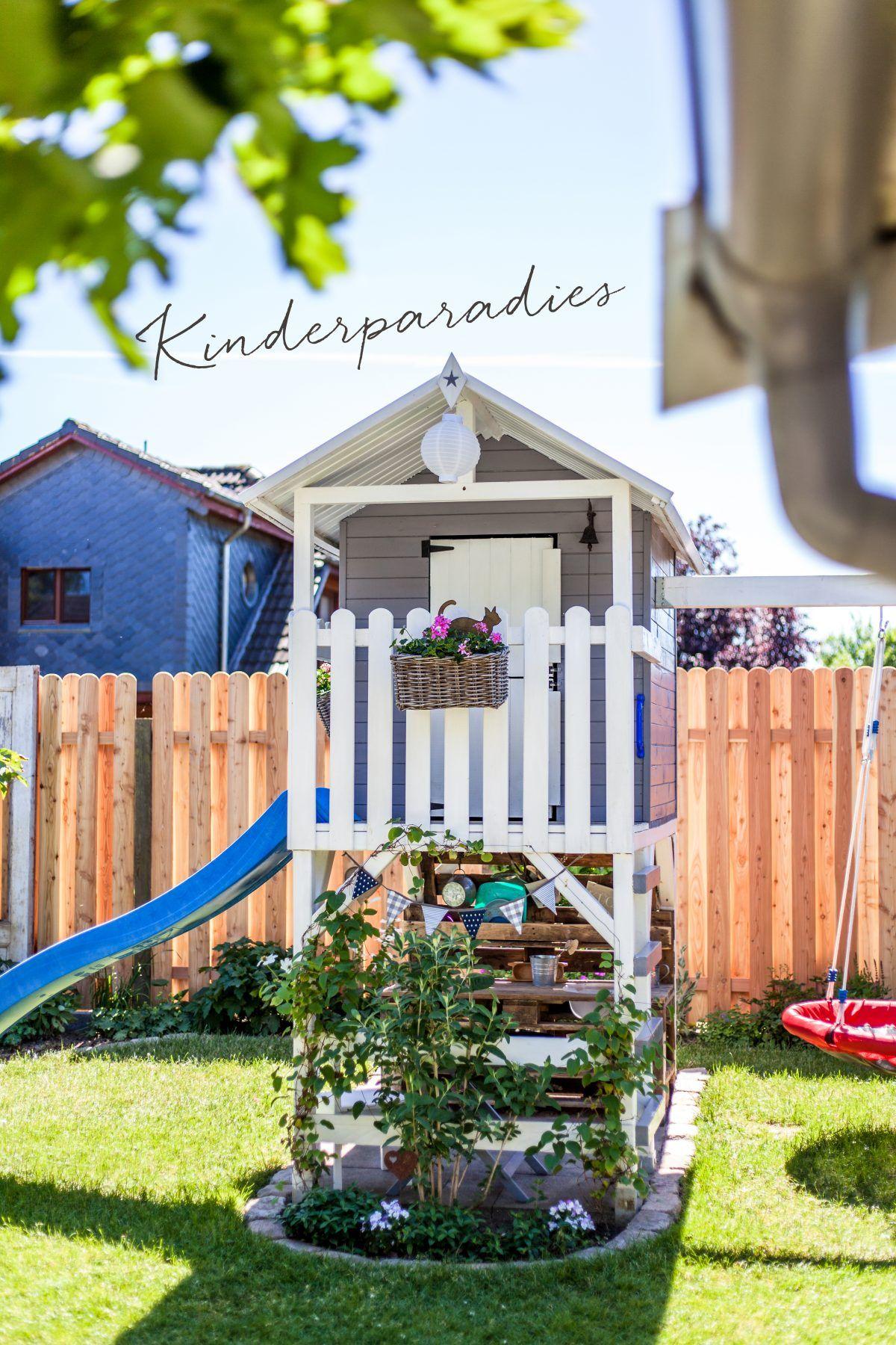 So Wohnt Der Norden Sabrinas Kleine Gartenwerkstatt Forde Fraulein Spielturm Garten Gartengestaltung Spielhaus Garten