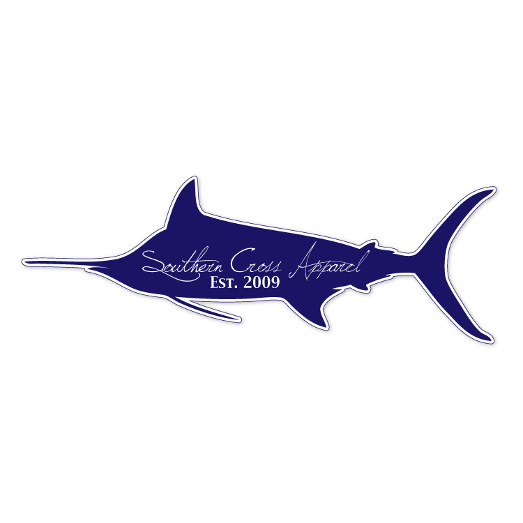 Blue Marlin Release Flag Printed Vinyl Decal Wall Window Car Sticker