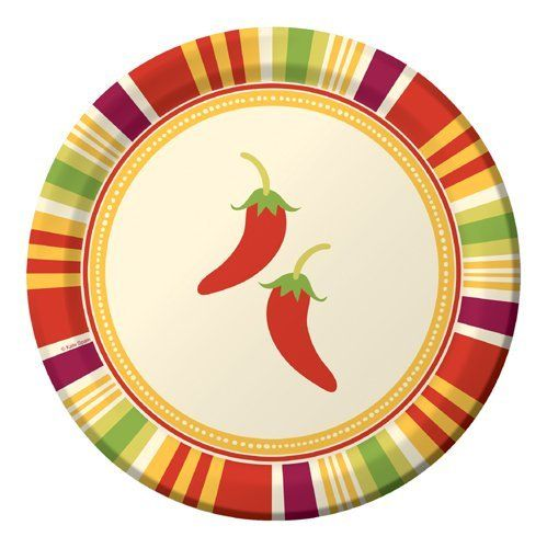 Southwest Chilies Paper Luncheon Plates Chili Peppers By