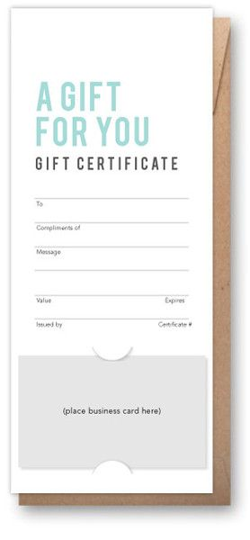 Soft Blue Vertical Our Gift Certificates Pinterest Salons